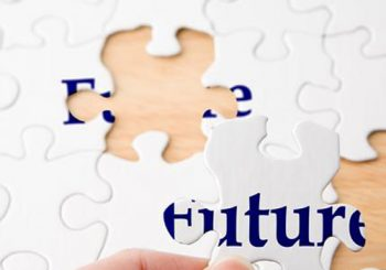 Image of a puzzle with the word future
